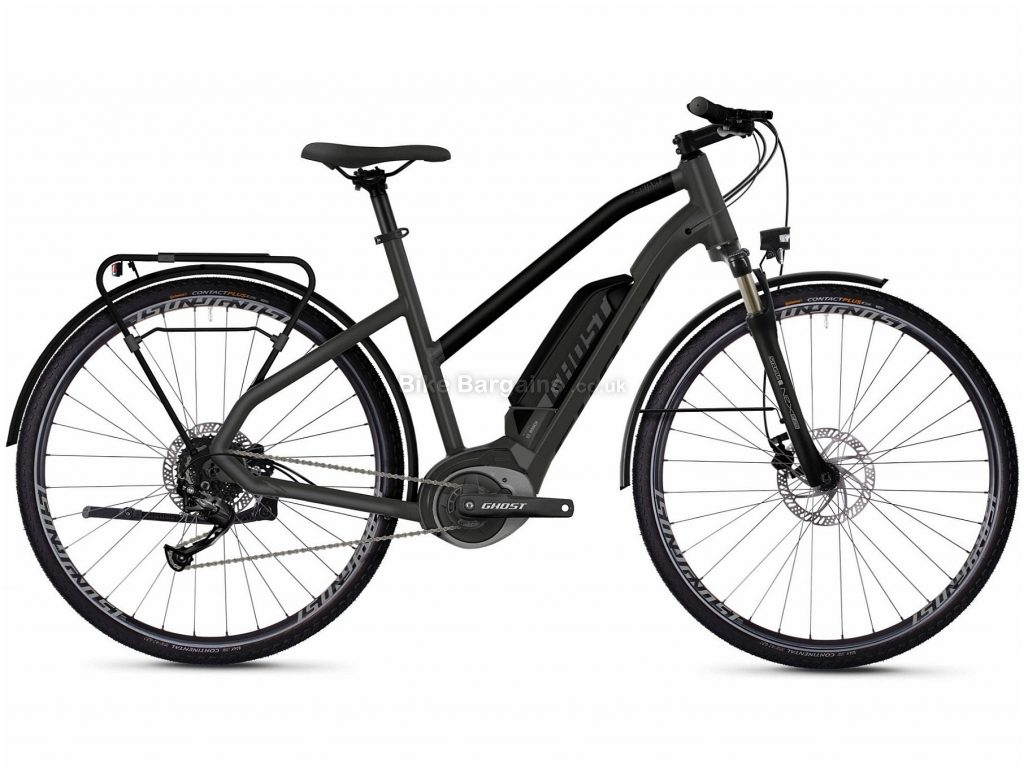 Ghost Hybride Square Trekking W B1.8 Ladies Alloy Electric Bike 2020 XS, Grey, Black, 9 Speed, Alloy Frame, 700c Wheels, Disc Brakes, 24.1kg