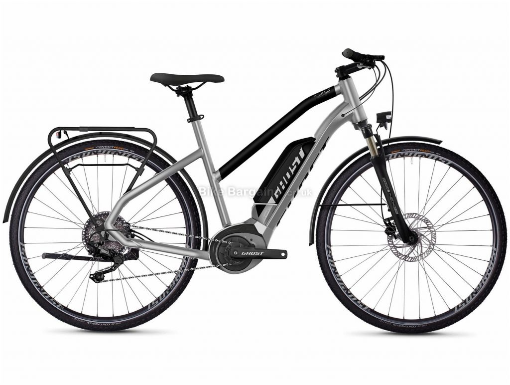 Ghost Hybride Square Trekking W B2.8 Ladies Alloy Electric Bike 2020 XS, Silver, Black, 10 Speed, Alloy Frame, 700c Wheels, Disc Brakes, 25.7kg