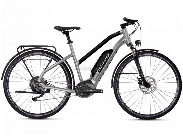 Ghost Hybride Square Trekking W B2.8 Ladies Alloy Electric Bike 2020 XS, Silver, Black, 10 Speed, Alloy Frame, 700c Wheels, Disc Brakes, 25.7kg
