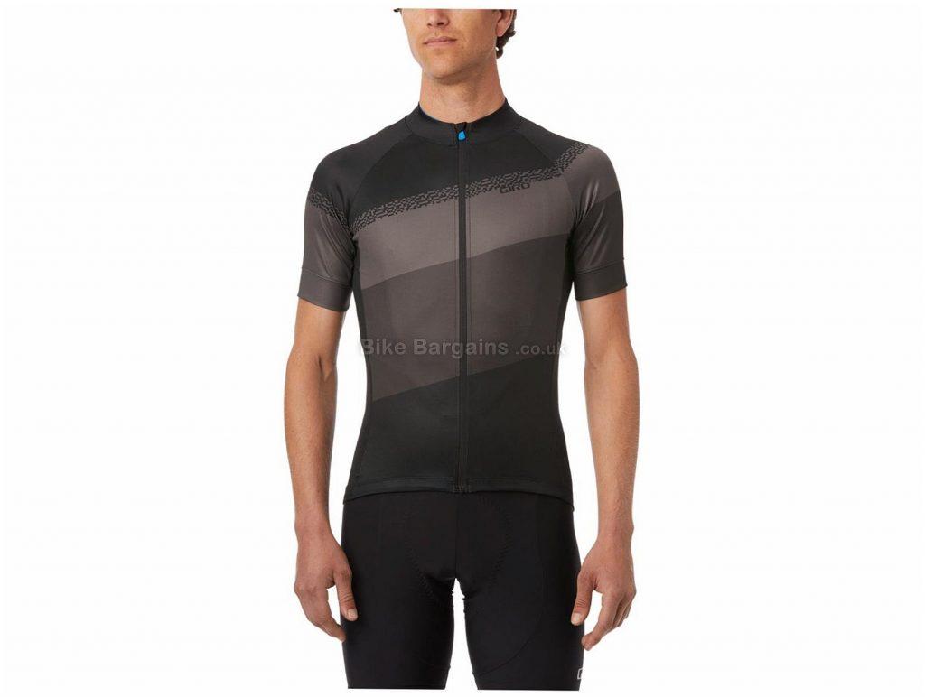 Giro Chrono Sport Short Sleeve Jersey XXL, Black, Grey, Men's, Short Sleeve, Polyester