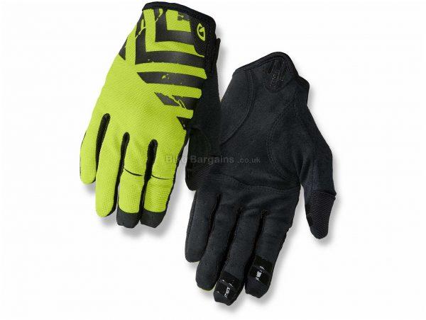 Giro DND Full Finger Gloves 2019 XL, Yellow, Black, Full Finger, Men's, Polyamide, Polyester, Cotton