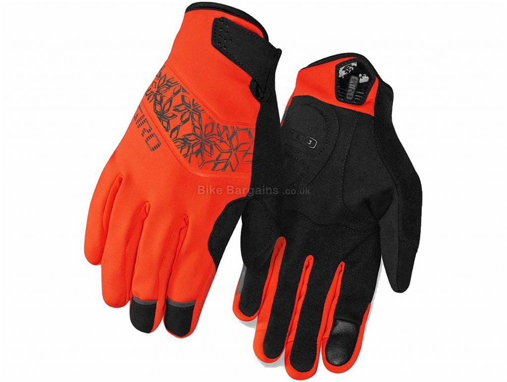 Giro Ladies Candela Full Finger Gloves S,M,L, Black, Orange, Ladies, Full Finger, Polyamide, Elastane