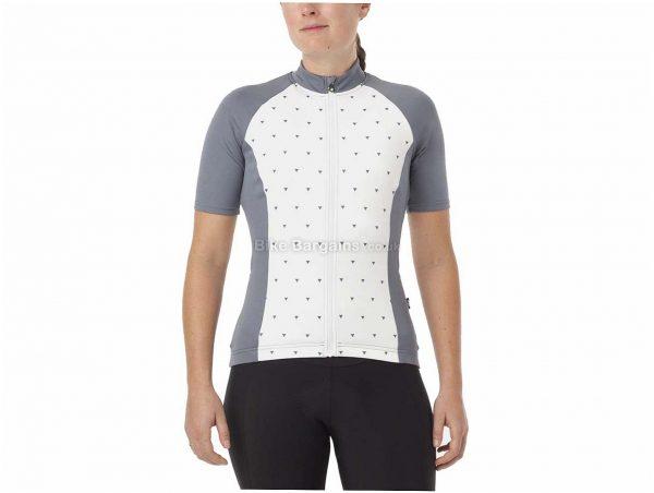 Giro Ladies Chrono Sport Sub Short Sleeve Jersey L, Grey, White, Short Sleeve, Ladies, Polyester