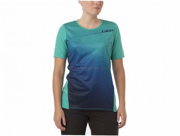 Giro Ladies Roust MTB Short Sleeve Jersey 2017 XS, Black, Purple, Ladies, Short Sleeve, Polyester