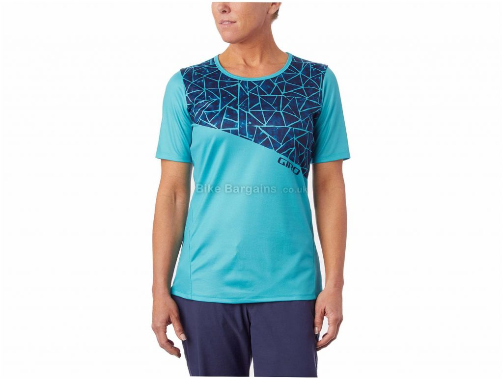 Giro Ladies Roust MTB Short Sleeve Jersey 2018 XS, Turquoise, Ladies, Short Sleeve, Polyester