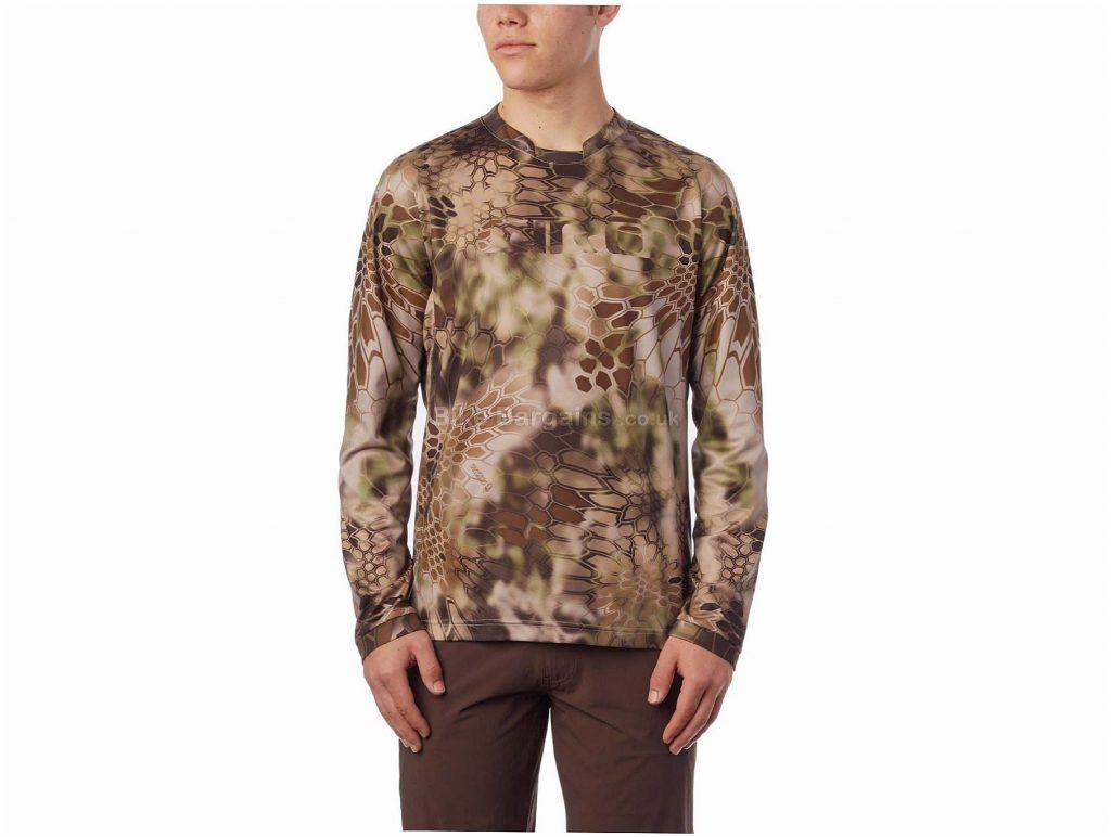 Giro Roust MTB Long Sleeve Jersey S, White, Black, Red, Orange, Blue, Brown, Men's, Long Sleeve, Polyester