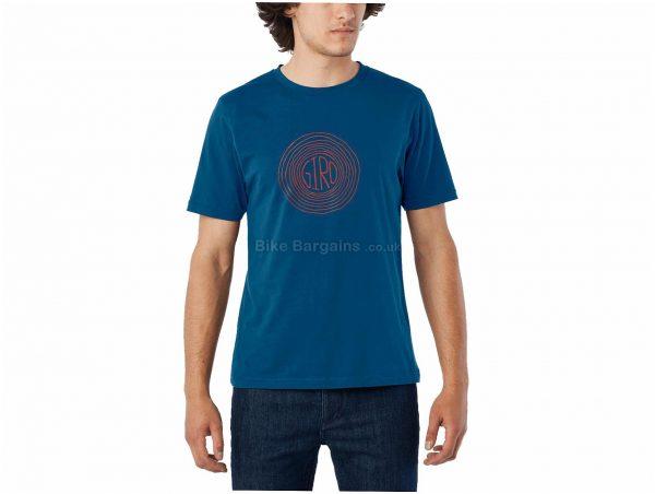 Giro Transfer Redwood Short Sleeve T-Shirt S, Blue, Men's, Short Sleeve, Cotton