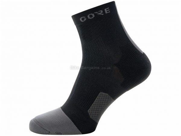 Gore R7 Mid Socks XS, White, Polyamide, Elastane