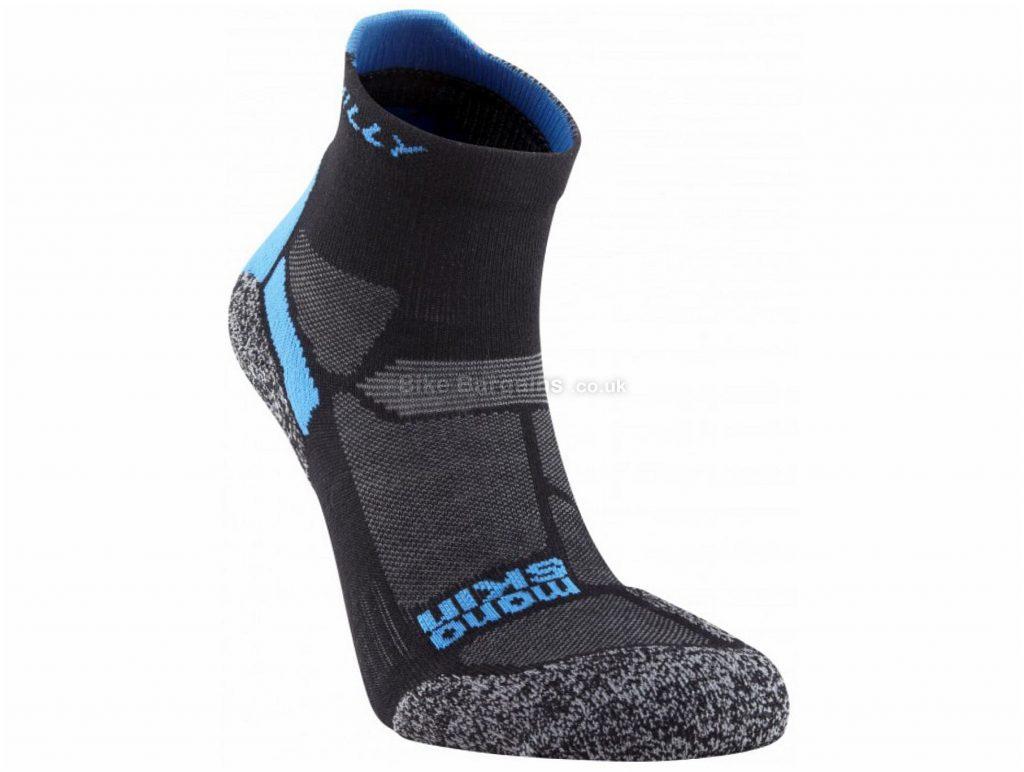 Hilly Energize Anklet Sock S, Black, Grey, Blue, Polyamide, Polyester, Cotton, Elastane