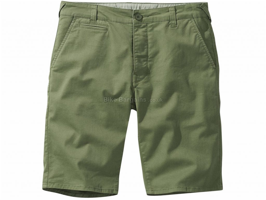 Howies Chada Strech Chino Shorts 38, Green, Men's, Baggy, Cotton, Elastane