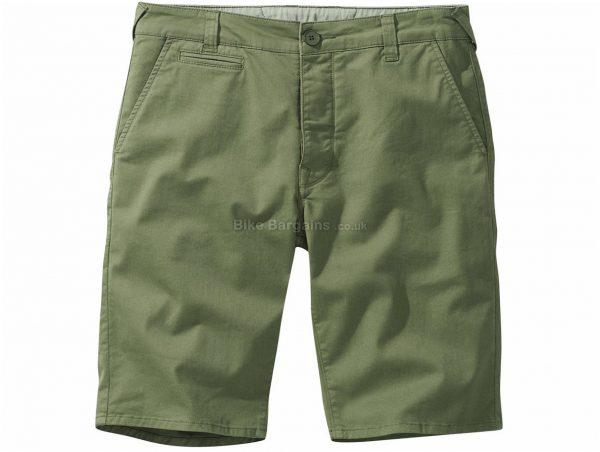 Howies Chada Strech Chino Shorts 38, Green, Men's, Baggy, Cotton, Elastane