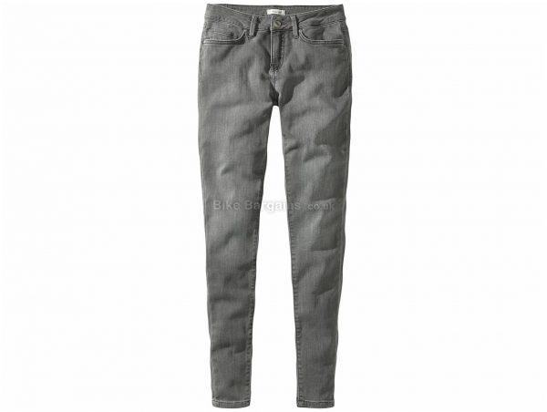 Howies Ladies Arda Stretch Jeans 32, Grey, Ladies, Cotton