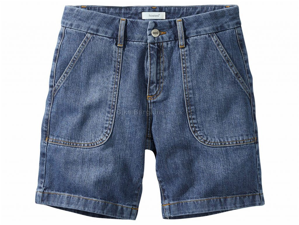 Howies Ladies Crisia Denim Shorts 30, Blue, Ladies, Baggy, Cotton