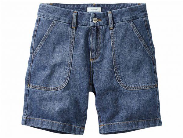 Howies Ladies Crisia Denim Shorts 30, Blue, Ladies, Baggy, Cotton
