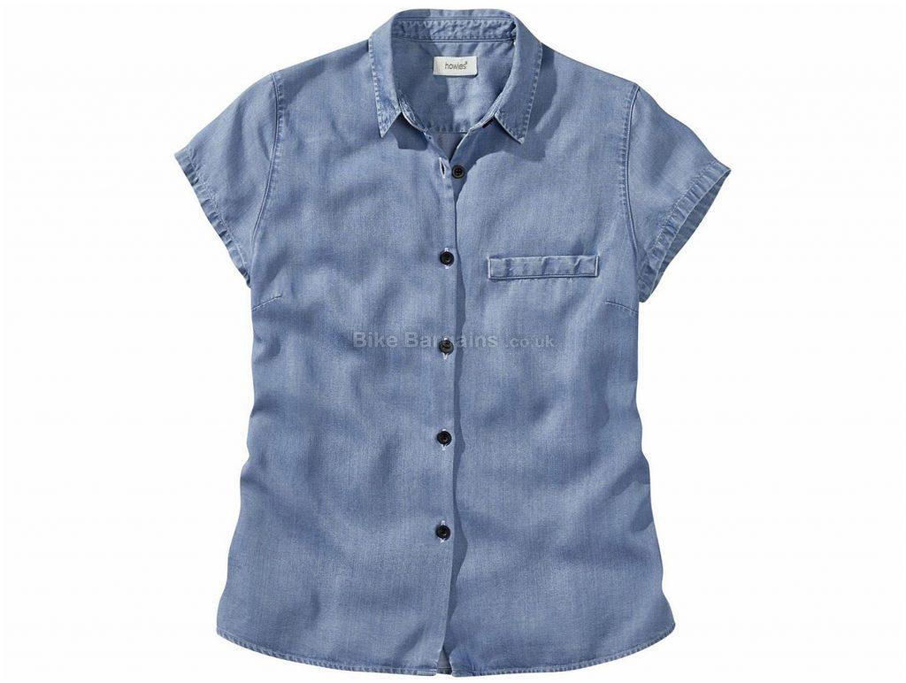 Howies Ladies Lycus Tencel Short Sleeve Shirt L,XL, Blue, Ladies, Short Sleeve, Wood