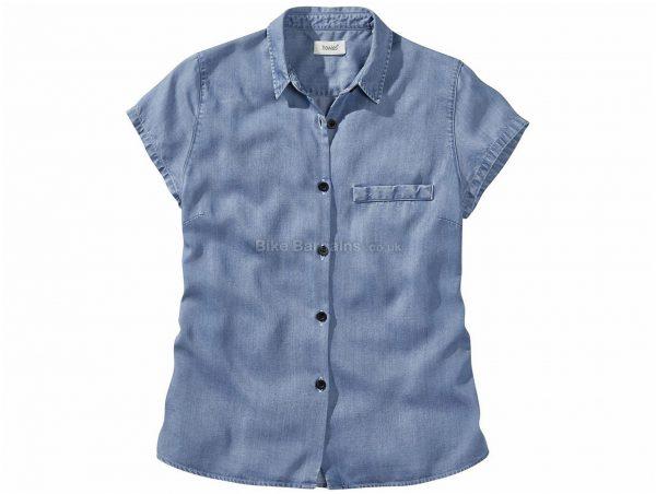 Howies Ladies Lycus Tencel Short Sleeve Shirt M,XL, Blue, Ladies, Short Sleeve, Wood