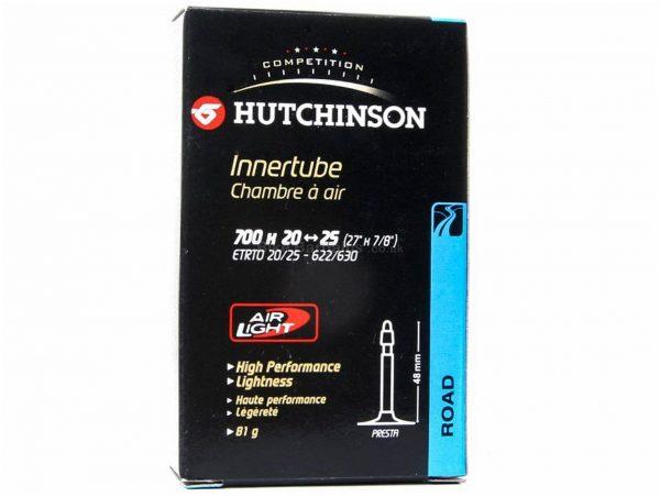 Hutchinson Air Light Road Inner Tube 700c, 20c, 23c, 25c, Presta, 60mm, Black, 79g, Butyl