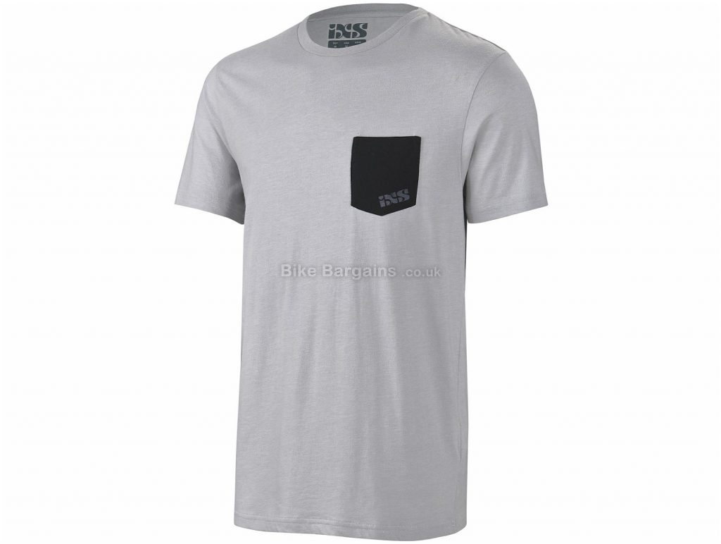 IXS Classic Short Sleeve T-Shirt XXL, Grey, Men's, Short Sleeve, Cotton