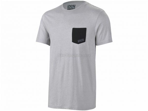 IXS Classic Short Sleeve T-Shirt S,M,L,XL,XXL, Grey, Men's, Short Sleeve, Cotton