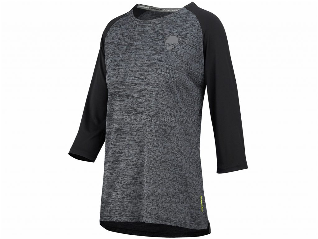 IXS Ladies Carve X 3/4 Sleeve Jersey M, Grey, Black, 3/4 Sleeve, Ladies, Polyester, Elastane
