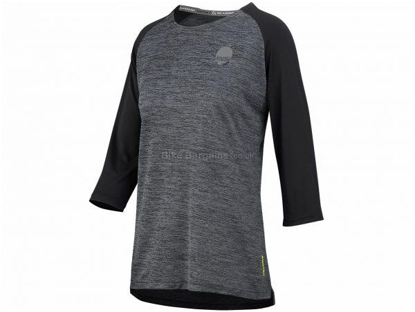 IXS Ladies Carve X 3/4 Sleeve Jersey M, Grey, Black, 3/4 Sleeve, Ladies, Polyester, Elastane