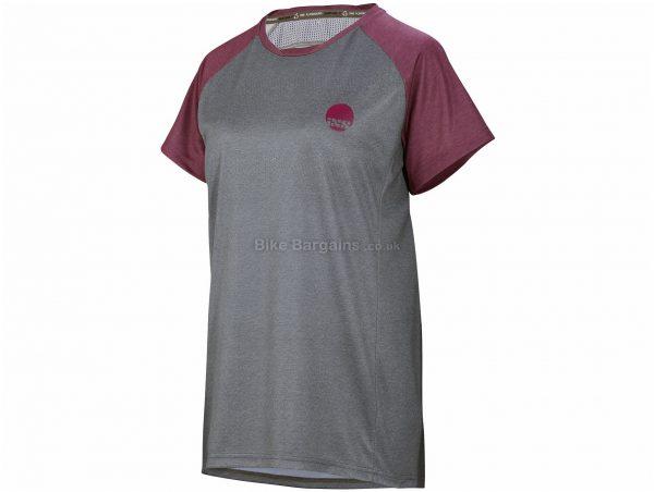 IXS Ladies Flow Short Sleeve Jersey XL, Grey, Black, Ladies, Short Sleeve, Polyester