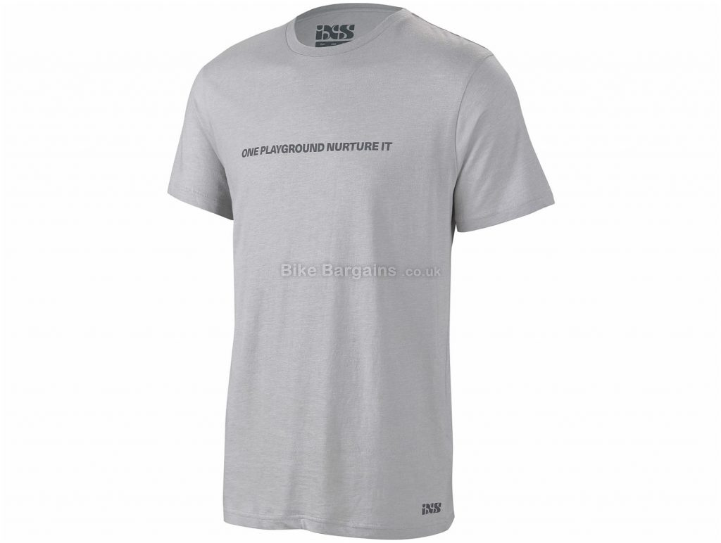IXS Playground Short Sleeve T-Shirt S, Grey, Men's, Short Sleeve, Cotton, Polyester