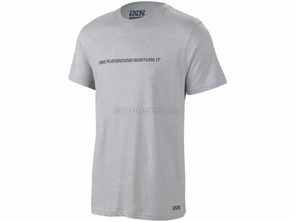 IXS Playground Short Sleeve T-Shirt S, Grey, Men's, Short Sleeve, Cotton, Polyester