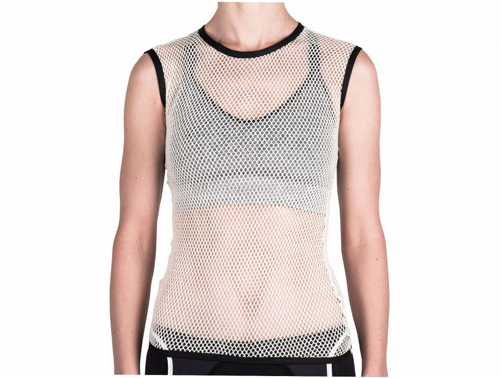 Isadore Ladies Merino Light Sleeveless Base layer L, White, Ladies, Sleeveless, Merino, Wool, Polyamide
