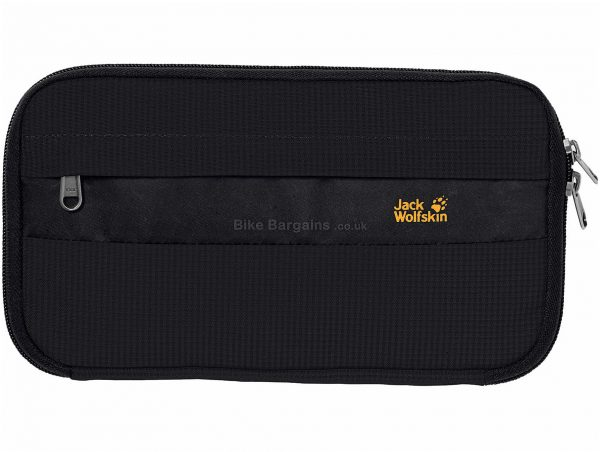 Jack Wolfskin RFID Boarding Pouch Bag One Size, 14cm, 26cm, 3cm, Black, 165g, Nylon