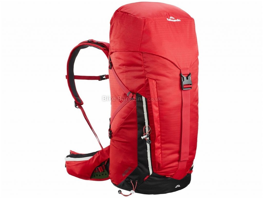 Kathmandu Altai v4 50 Litre Backpack 50 Litres, Red, Black, 1.34kg, Nylon