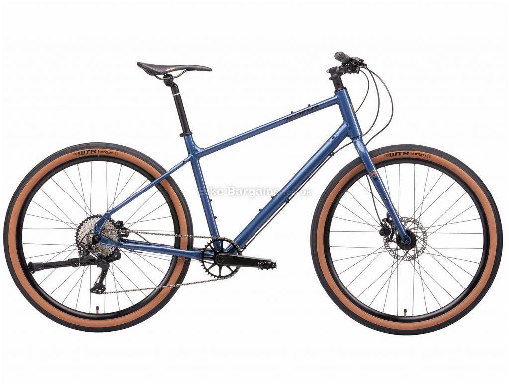 Kona Dew Plus Alloy Urban City Bike 2021 L, Blue, Alloy Frame, Disc Brakes, 10 Speed, 650c Wheels, Single Chainring