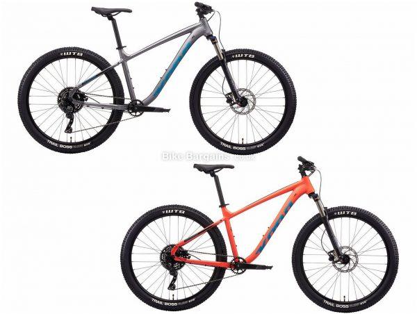 """Kona Fire Mountain Alloy Hardtail Mountain Bike 2021 XL, Orange, Grey, Disc Brakes, Single Chainring, 9 Speed, Hardtail, 27.5"""", Alloy"""