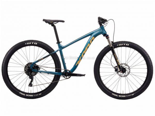 "Kona Lava Dome Alloy Hardtail Mountain Bike 2021 S, Turquoise, Red, Alloy Frame, Disc Brakes, 9 Speed, 29"" Wheels, Single Chainring"