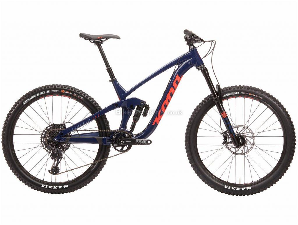 "Kona Process 153 DL 27.5 Alloy Full Suspension Mountain Bike 2020 L, Blue, Orange, 12 Speed, Alloy Frame, 27.5"" Wheels, Disc Brakes, Full Suspension"
