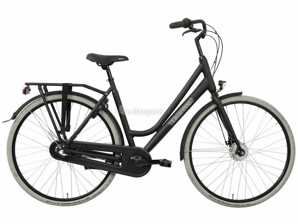 Laventino Glide 3 Ladies Alloy City Bike 2020 53cm, Black, Grey, 3 Speed, Alloy Frame, 700c Wheels, Caliper Brakes, 17.5kg