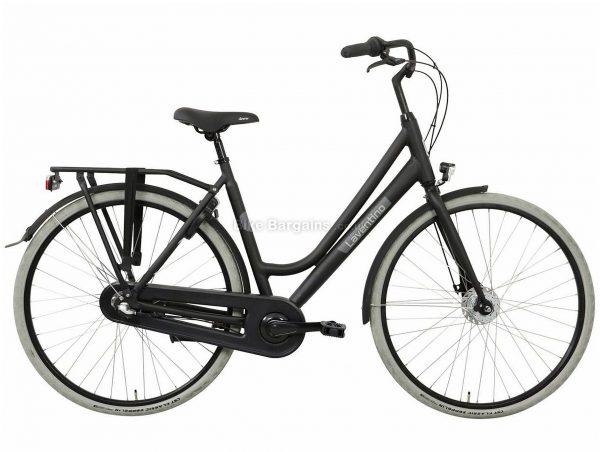 Laventino Glide 3 Ladies Alloy City Bike 2020 53cm, Black, Grey, 3 Speed, Alloy Frame, 700c Wheels, Caliper Brakes, 17.5kg