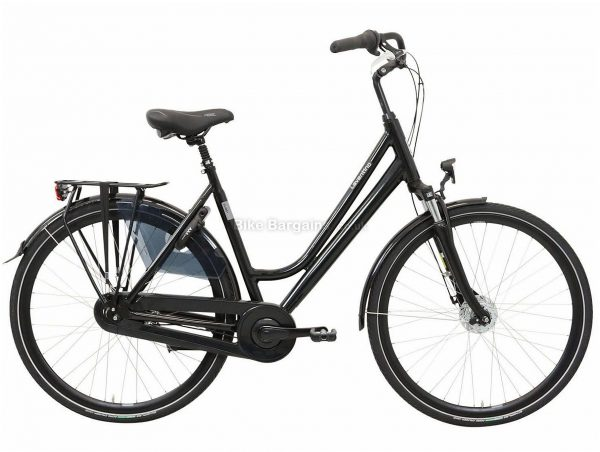 Laventino Glide 8+ Ladies Alloy Urban City Bike 53cm, Black, Alloy Frame, Caliper Brakes, 8 Speed, 700c Wheels, Single Chainring, 18.2kg