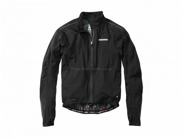 Madison RoadRace Premio Waterproof Jacket XS, Black, Long Sleeve, Men's, Polyester, Elastane