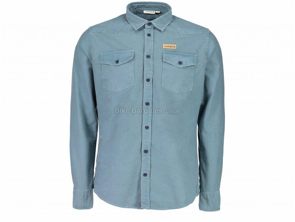 Maloja MonzaM. Long Sleeve Shirt XL, Blue, Men's, Long Sleeve, Cotton