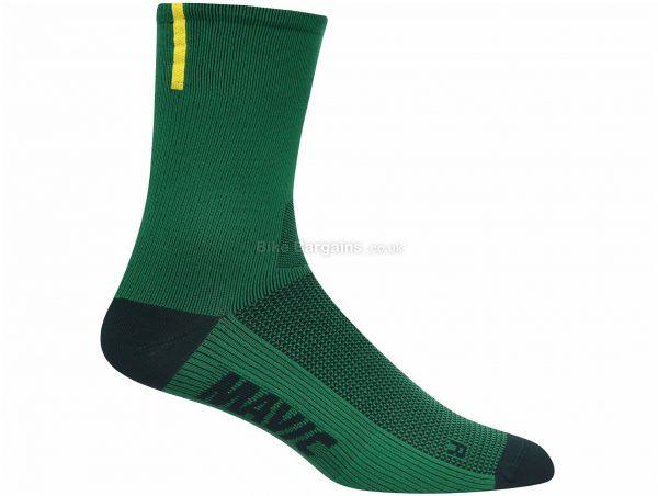 Mavic Essential High Socks XS, Green, Unisex, Polyamide, Elastane