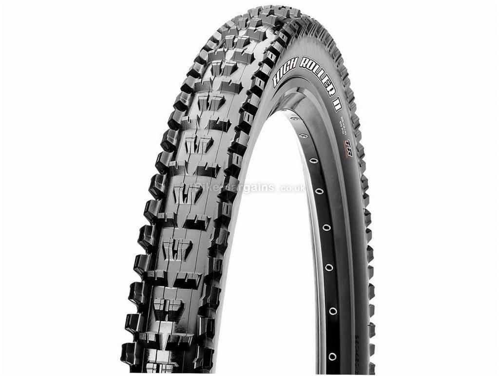 "Maxxis High Roller II 3C EXO TR WT Folding MTB Tyre 27.5"", 2.5"", Folding, Black, 925g, Rubber, Kevlar"