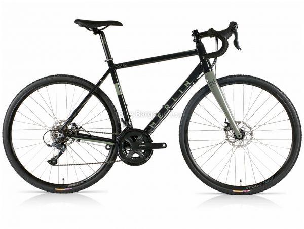 Merlin Malt G2 Claris Alloy Gravel Bike 2021 47cm, Black, Grey, Alloy Frame, Disc Brakes, 16 Speed, 700c Wheels, Double Chainring, 11.3kg