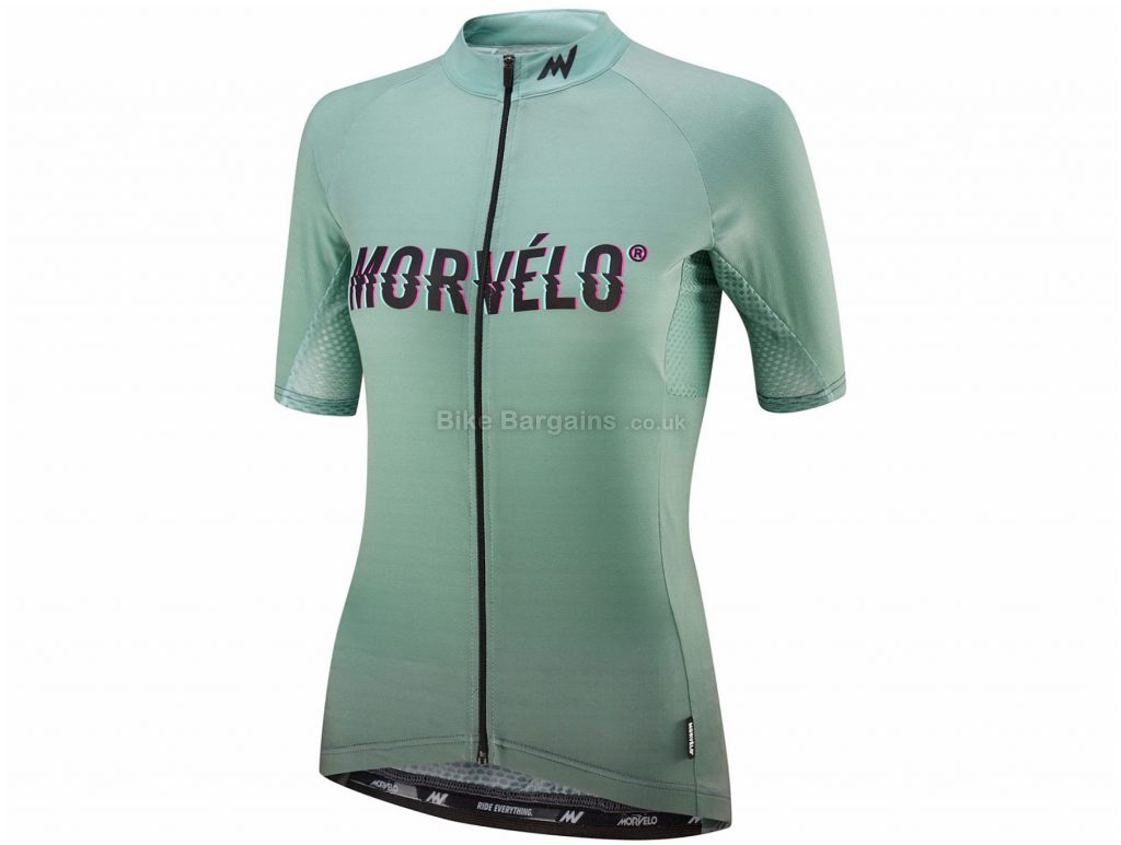 Morvelo Ladies Superlight Scorch Short Sleeve Jersey L, Green, Polyester, Lycra, Short Sleeve