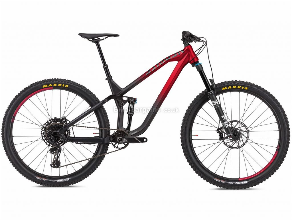 "NS Bikes Define AL 130 Alloy Full Suspension Mountain Bike 2020 M,L, Black, Red, 12 Speed, Alloy Frame, 29"" Wheels, Disc Brakes, Full Suspension, 14.8kg"