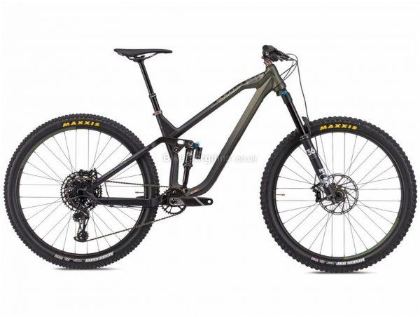 """NS Bikes Define AL 150 Alloy Full Suspension Mountain Bike 2020 S, Black, Green, 12 Speed, Alloy Frame, 29"""" Wheels, Disc Brakes, Full Suspension, 14.9kg"""