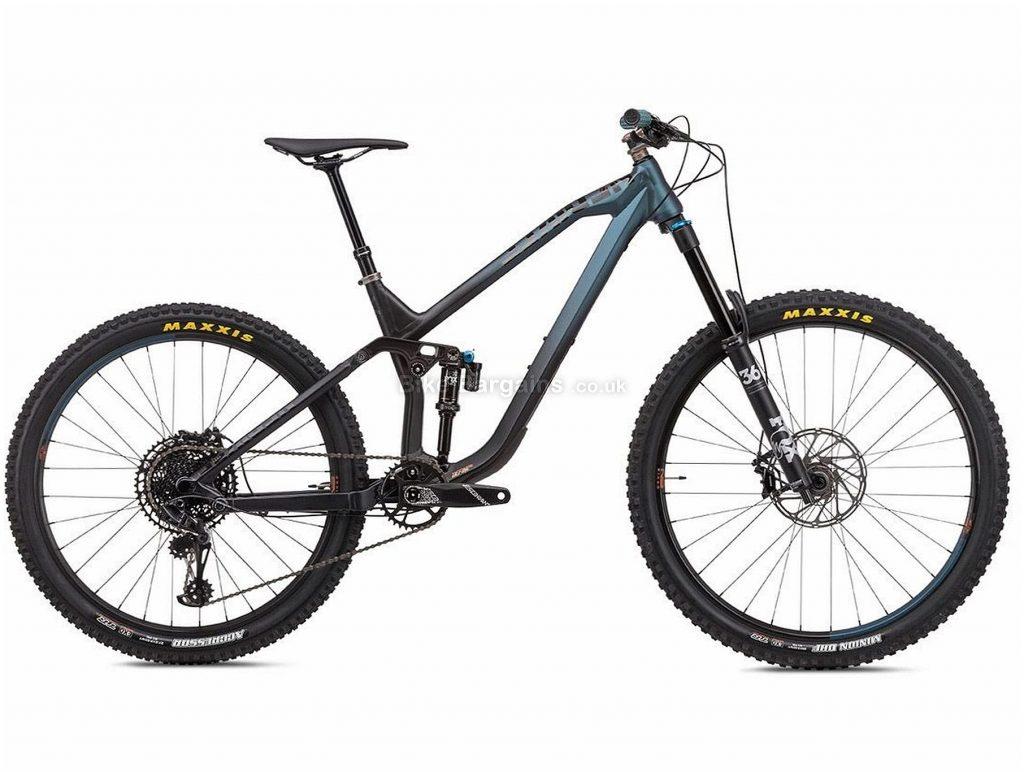 """NS Bikes Define AL 160 Alloy Full Suspension Mountain Bike 2020 S, Black, Blue, 12 Speed, Alloy Frame, 29"""" Wheels, Disc Brakes, Full Suspension, 14.9kg"""