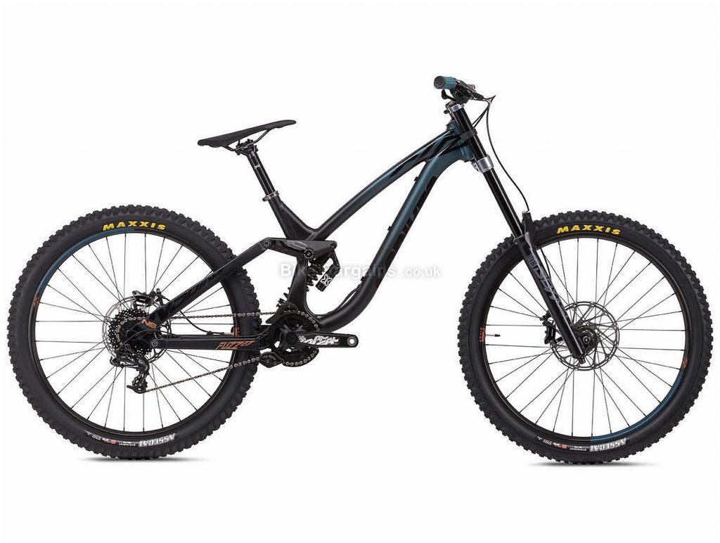 "NS Bikes Fuzz 27.5 Alloy Full Suspension Mountain Bike 2020 M, Black, Blue, 10 Speed, Alloy Frame, 27.5"" Wheels, Disc Brakes, Full Suspension, 17.5kg"