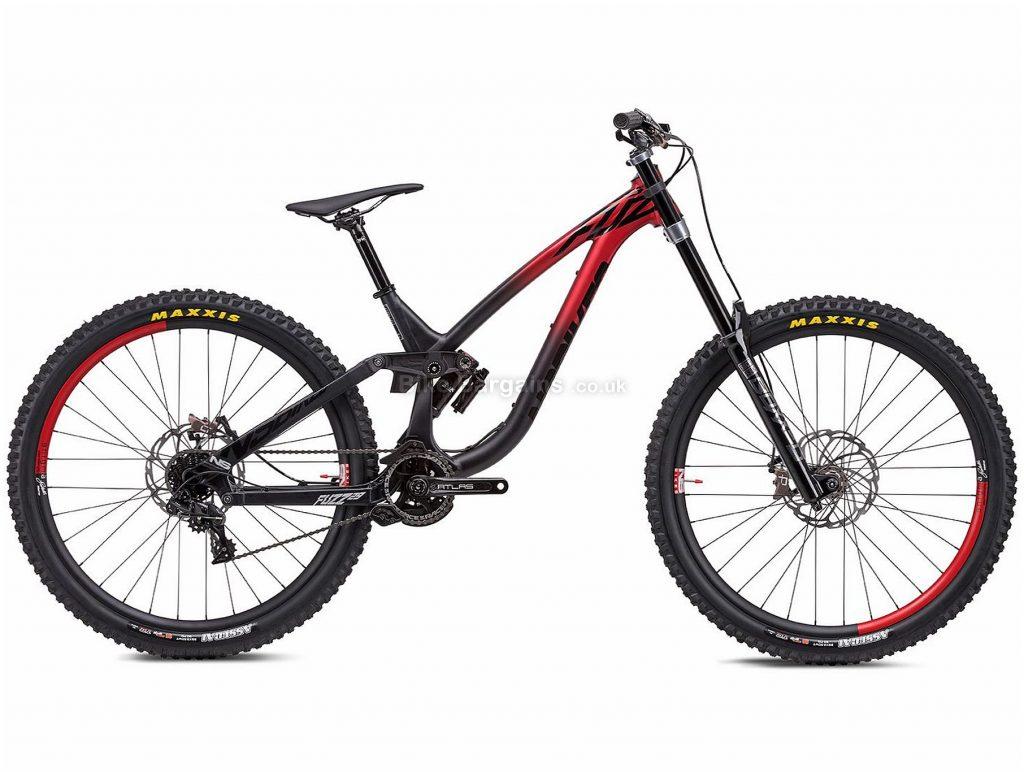 "NS Bikes Fuzz 29 1 Alloy Full Suspension Mountain Bike 2020 M, Black, Red, 7 Speed, Alloy Frame, 29"" Wheels, Disc Brakes, Full Suspension, 16.4kg"
