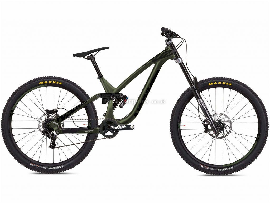 "NS Bikes Fuzz 29 2 Alloy Full Suspension Mountain Bike 2020 L, Green, Black, 10 Speed, Alloy Frame, 29"" Wheels, Disc Brakes, Full Suspension, 16.7kg"